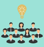 Group of business people gather together, birth of the brilliant Royalty Free Stock Image