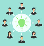 Group of business people gather together, process of generating Royalty Free Stock Images