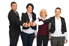 Group of business people give thumbs Royalty Free Stock Photo