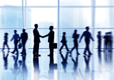 Group of Business People Global Business Greeting Royalty Free Stock Images