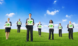 Group of Business People with Green Concepts Stock Photo