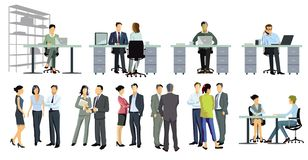 A group of business people vector illustration