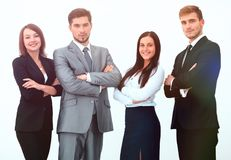 Group of business people. Isolated on white background Royalty Free Stock Image