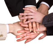 Group of business people hand. Royalty Free Stock Photo