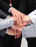 Group of business people with hands together Royalty Free Stock Images