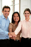 Group of business people with hands together Royalty Free Stock Photos