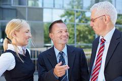 Group of business people having Stock Images