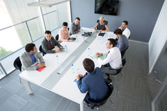 Group of business people having a business meeting Stock Image