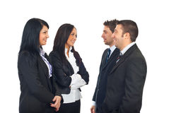 Group of business people having conversation Stock Photo
