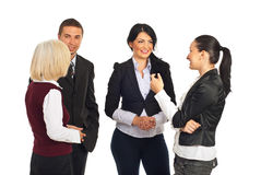 Group of business people having conversation Royalty Free Stock Photos