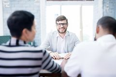 Job applicant having an interview royalty free stock photo