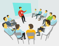 Group of business people having a meeting royalty free stock image