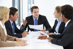 Group Of Business People Having Meeting In Office Stock Images