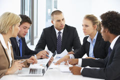 Group Of Business People Having Meeting In Office Stock Photo