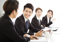 Group of business people having meeting together Stock Photos