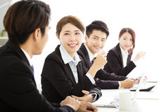 Group of business people having meeting together Royalty Free Stock Photography