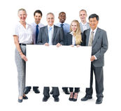 Group of Business People Holding Placard.  royalty free stock photo