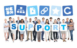 Group Of Business People Holding Support Royalty Free Stock Photos