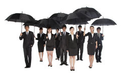 A group of business people holding umbrella Royalty Free Stock Images