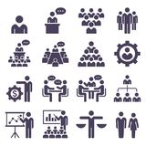 Group of business people icons set. Royalty Free Stock Images