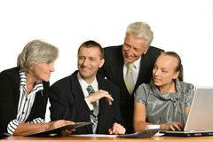 Group of a business people Stock Photography