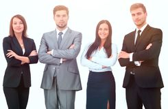 Group of business people. Isolated on white background Royalty Free Stock Photography