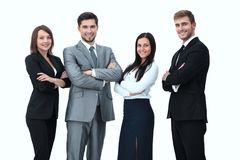 Group of business people. Isolated on white background Royalty Free Stock Images