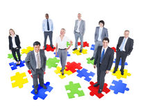 Group of Business People. Jigsaw puzzle stock photography