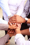 Group of Business People Join the Hand or United. As Business Group Teamwork Concept Royalty Free Stock Image