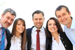 Group of business people laughing Stock Photography