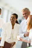 Group of business people laughing Stock Images