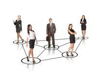 Group of business people with leader in center Royalty Free Stock Photo