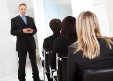 Group of business people at the lecture Royalty Free Stock Image