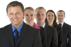 Group Of Business People In A Line Smiling Royalty Free Stock Photo