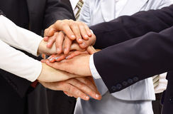 Group of business people making Royalty Free Stock Images
