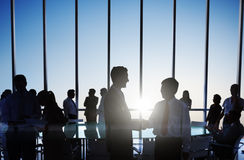 Group of Business People Making Agreement Stock Image