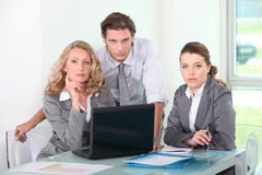 Group of business people in a meeting Royalty Free Stock Photos