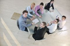 Group of business people at meeting Royalty Free Stock Photo