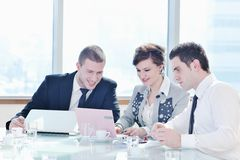 Group of business people at meeting Stock Photo