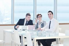 Group of business people at meeting Stock Image