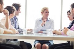 Group of business people at meeting Stock Images