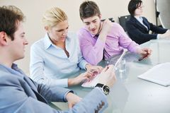 Group of business people at meeting Royalty Free Stock Photos
