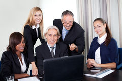 Group of business people in a meeting Royalty Free Stock Photography
