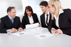 Group of business people at the meeting Stock Photography