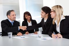 Group of business people at the meeting Royalty Free Stock Photos
