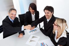 Group of business people at the meeting Stock Image