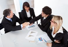 Group of business people at the meeting Stock Images