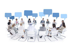 Group of Business People Meeting. Group of business people in a meeting royalty free stock photo