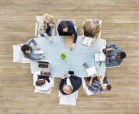 Group of Business People in a Meeting Stock Images