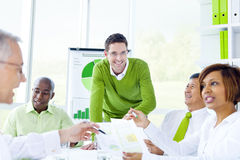 Group of Business People Meeting Stock Image